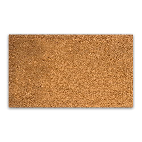 """Coco Coir Door Mat with Heavy Duty Backing, Natural Doormat, 17""""x30"""" Size, Easy to Clean Entry Mat, Beautiful Color and Sizing for Outdoor and Indoor uses, Home Décor"""