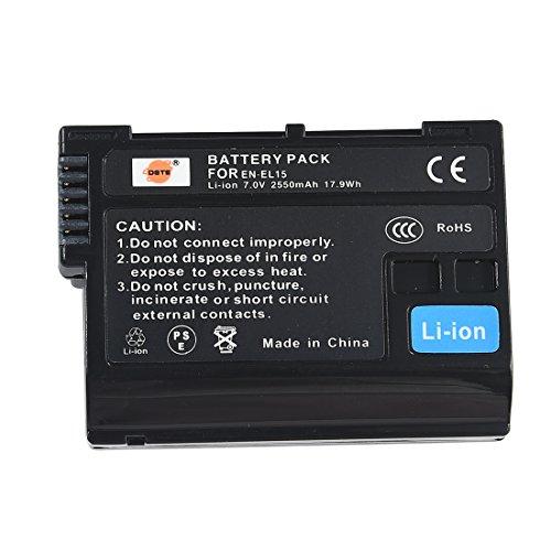 DSTE EN-EL15 Li-ion Battery for Nikon EN-EL15 and Nikon 1 V1, D600, D800, D800E, D7000, D7100 , D610 (Decoded Chip)
