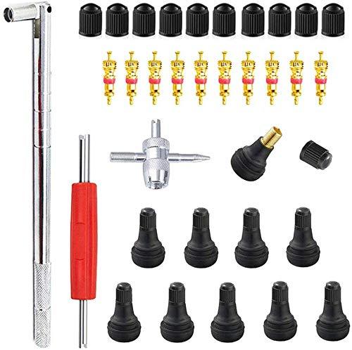 GTIWUNG Kit de Herramientas de Extracción de Vástago de Válvula de Neumático TR413 para Reparación de Válvulas de Neumáticos para Automóviles Motocicletas Camiones Vehículos