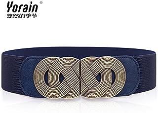 ZHANGYONGGirdles Belt Slack Belt Width Female Dresses Decorated Women Belt Girdles Wide Waistband Braided Strap, Blue,60cm