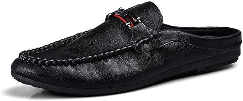 ZSJ-XXX Nouvelles Chaussures de Sport pour Hommes Mode for Hommes Hommes Hommes d'été - Sabots - Dos - Chaussures à Lacets perméables à l'air - Léger Chaussures Décontracté à la Mode (Couleur   Noir, Taille   41 EU) 9ee