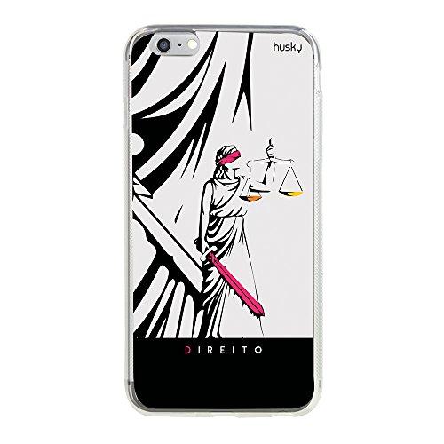 Capa Personalizada Profissões Direito, Husky para iPhone 6 Plus / 6S Plus, Capa Protetora para Celular, Multicor