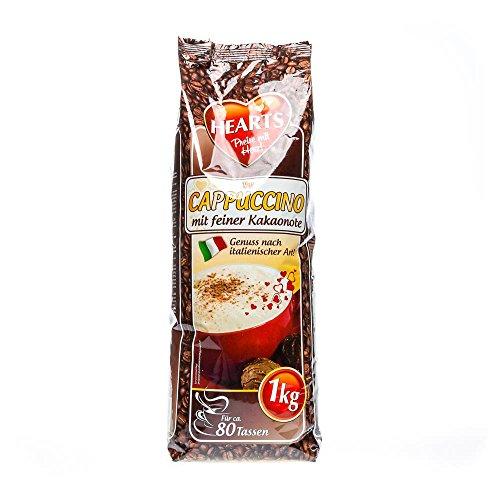 HEARTS Cappuccino mit feiner Kakaonote 10 x 1 kg - Genuss nach italienischer Art