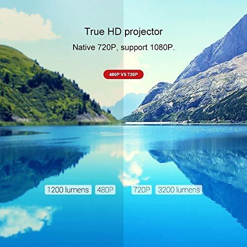超便利な家庭用商業用プロジェクター、CL7603600ルーメン1280x800720P1080PHDAndroidスマートプロジェクター、サポートHDMIx2/USBx2/VGA/AV(色:Black)