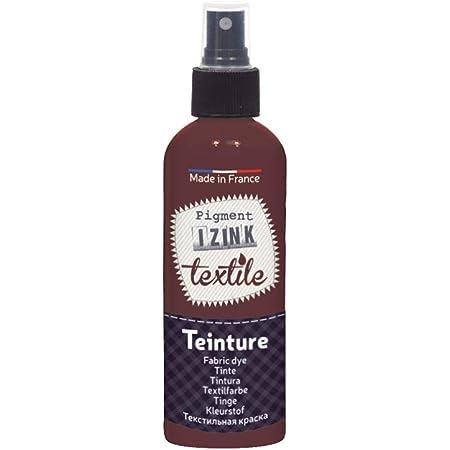 Aladine – Tinte textil en spray Izink – Tinta textil decorativa – Fácil aplicación – Made in Francia – Botella pulverizadora 80 ml – Color marrón ...