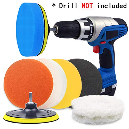 Electric Drill for Metal Aluminum Chrome Used on Rotary Tools//Polisher Car Foam Drill Polishing Pad Kit with 5//8 Thread SPTA Mini Detail Polisher Shaft Stainless Steel
