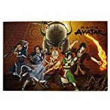 Avatar The Last Airbender Puzzles 1000 Pieces for Adults and Teens Anime Jigsaw Puzzles Funny Family Games Home Decoration 19.7X29.5 Inch