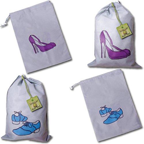 Pro Home Schuhbeutel Schuhsack Reisebeutel Aufbewahrung für Schuhe, 8er Set - Größe ca.: 46x35cm (4X Herren und 4X Damen)