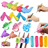 Pencil Handwriting Grips for Kids 20Pcs Finger Grips Holder Ergonomic Writing Aid Grip Posture Correction Training Tools for Children Preschoolers Adults(6 Types)