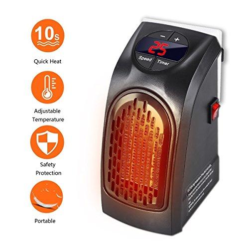 Mini estufa portátil calefactor cerámico de bajo consumo con termostato 350 W