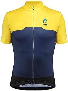 Homme BDI Classique Maillot De Cyclisme Jaune fluo