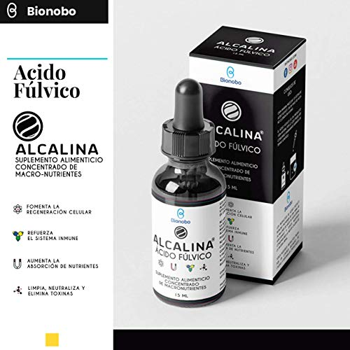 ALCALINA® Ácido Fúlvico 15ml   Adaptógeno - Nutrición Celular   Multi-mineral-vitaminas, Probiótico SBO   Ayuda tiroides, Candidiasis, Fatiga Crónica, Elimina Metales Pesados  