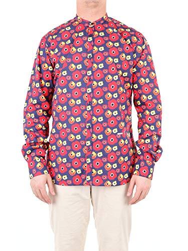 Aglini Luxury Fashion Herren 111071MULTICOLOR Multicolour Elastan Hemd | Jahreszeit Outlet