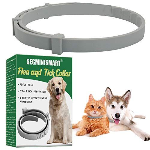 Zeckenhalsband für Hunde,Zecken Halsband für Katze, Floh Zecken Kragen Floh-und Zecken Prävention Halsbänder, Verstellbar Wasserdicht Flohhalsband,Passend für Kleine Mittlere Große Hunde Katze