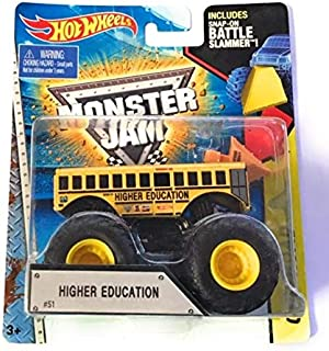 HOT WHEELS MONSTER JAM OFF-ROAD INCLUDES SNAP-ON BATTLE SLAMMER! HIGHER EDUCATION #51