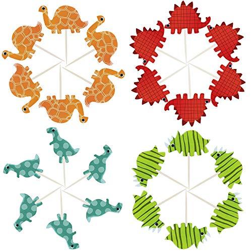 Tancuder 72 stuks taartdecoratie voor verjaardag cupcakes in de vorm van een dinosaurus.