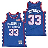 Men's McDonald's All American 33 Bryant Basketball Jersey Stitched Blue Size XL