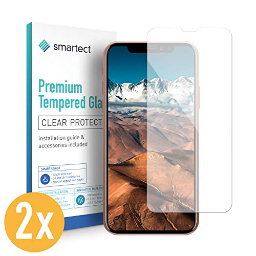 smartect Panzerglas kompatibel mit iPhone X [2 Stück] - Displayschutz mit 9H Härte - Blasenfreie Schutzfolie - Anti Fingerprint Panzerglasfolie