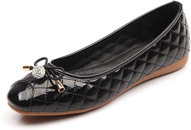 Drew Toby Women's Flats,Classic Rhinestone Non-Slip Closed-Toe Spring Casual shoes