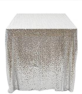 50''x50'' Square Silver Sequin Tablecloth Select Your Color & Size Can Be Available ! Sequin Overlays, Runners, Gatsby Wedding, Glam Wedding Decor, Vintage Weddings