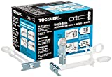 """Toggle anchor installs behind 3/8""""- to 2-1/2""""-thick hollow materials including gypsum board, drywall, and concrete block to provide a secure hold from within the mounting material Anchor affixes to the wall before adding the bolt and fixture, allowin..."""
