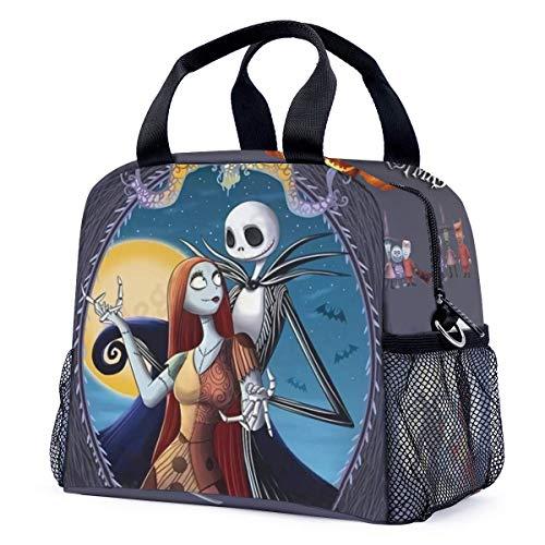 Suguroo Nightmare Before Christmas Lunch Bag Camping Handbag for Woman