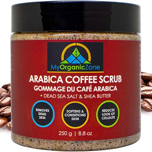 Arabica Coffee Scrub, Natural & Organic Body Scrub for Cellulite Treatment, Skin & Face Exfoliating Cream (250g/8.8oz)