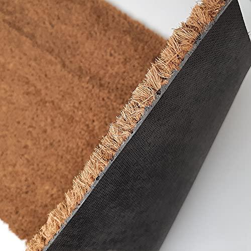 Felpudos Personalizado con Texto y/o diseño de Coco Natural con Base Antideslizante | Felpudos Originales para Entrada de casa, Interior o Exterior | Mi Diseño- 40 x 70 cm