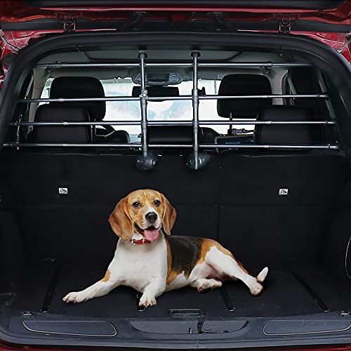 JOYTUTUS Dog Car Barrier for SUVs, Adjustable Safety Dog Barrier for Car, Universal Pet Barriers, Dog Car Guard Vehicle, Easy to Install and Remove