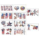 Patriotisch Stränge Stern Streamer Patriótico día 4 julio Hängende Wirbel Party Dekorationen Preferencia Set Independencial PVC Spiral Ornament, rojo, blanco y azul, 30 unidades