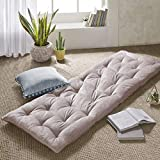 Intelligent Design Edelia Foldable Poly Chenille Light Weight Lounge Floor Pillow Cushion Tufted Seat for Meditation, Game Playing, Yoga, Reading with Travel Wrap, 74x27, Blush