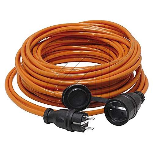 Colours-Manufaktur Verlängerungskabel für den Außenbereich/Innenbereich * Verschiedene Modelle, Farben und Längen wählbar * (orange Schuko (IP 44 - Außen), 40 m)
