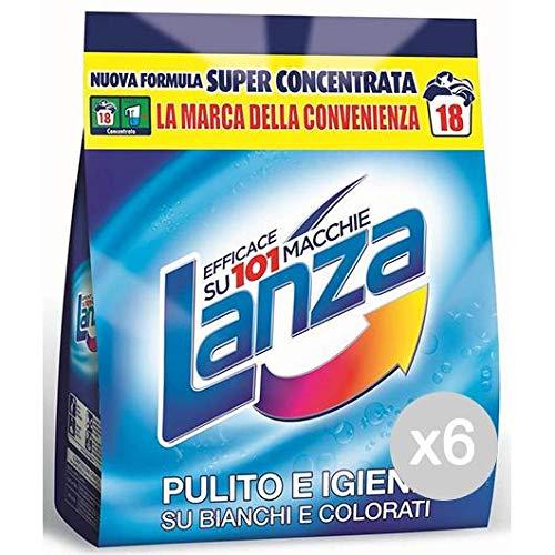 Lanza Set 6 Ricarica 18 Misurini Detersivo Lavatrice E Bucato, Multicolore, Unica