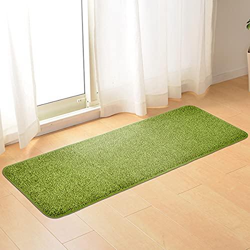 なかね家具 キッチンマット ロングマット 芝生風 人工芝 ホットカーペット・床暖房対応 ウレタン入り 屋内用 中国製 45×120 グリーン 223shiva