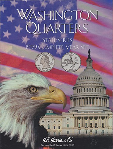 1999 COMPLETE YEAR WASHINGTON QUARTER STATE SERIES HARRIS 8HRS2748 TRIFOLD COIN; Album, Binder, Board, Book, Card…