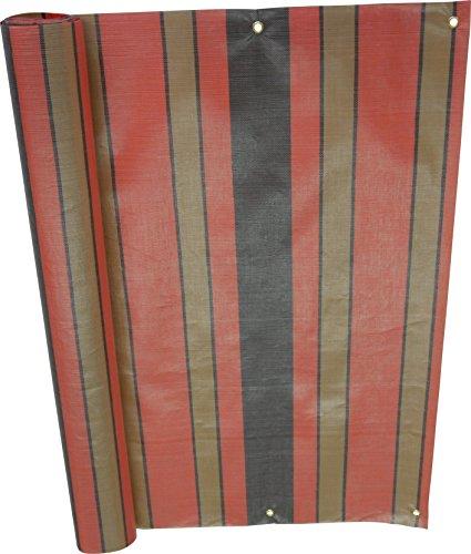 Angerer Balkonbespannung PE-Gewebe Nr. 1300, Braun/Terra, 75 cm hoch, Länge: 6 Meter