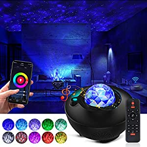 crib bedding and baby bedding star projector galaxy projector night light projector with bluetooth music speaker and remote control work with alexa