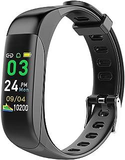 Fitness Trackers Magnetic Suck Charging, Sleep Heart Rate Monitor Smart Band Waterproof Bluetooth Headphone Smart Watch Tw...
