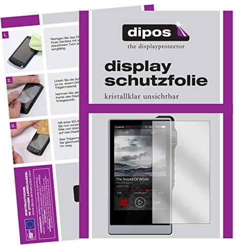 dipos I 2X Protector de Pantalla Compatible con iBasso DX200 pelicula Protectora Claro