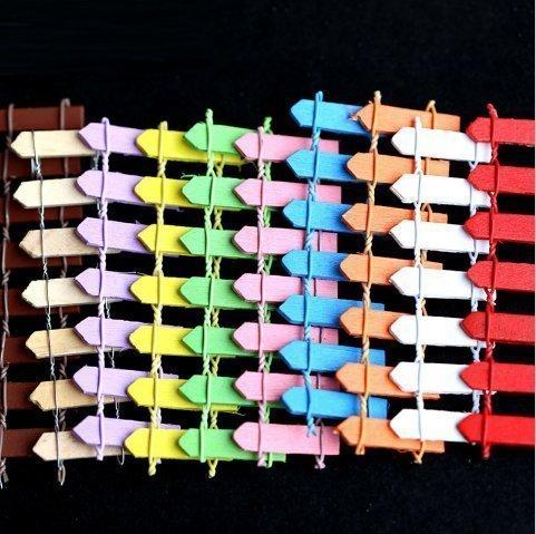 Urgrace 40 pcs Bois Clôture Palissade Jardin Féérique miniature Maison maisons Décoration Mini Craft Micro aménagement paysager Décor DIY Accessoires 10 couleurs