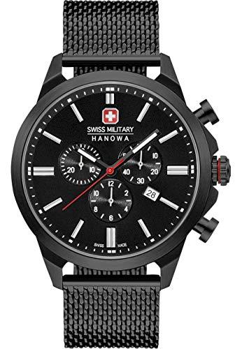 swiss military hanowa Unisex Erwachsene Analog Quarz Uhr mit Edelstahl Armband 06-3332.13.007
