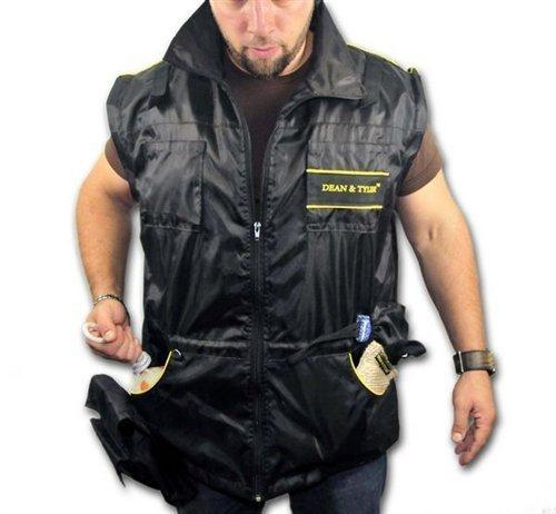 Dean & Tyler DT Gilet de Dressage pour Chien Manches Longues Amovibles Noir/Jaune L (Taille : 42\