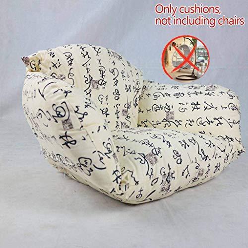 FGA Bequemes Dickes hängendes Sessel-Stuhlkissen, abnehmbares waschbares Stuhl-hängendes Korb-Sitzkissen, Hängematten-Rückenkissen S.