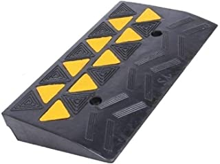 Truck Ramps, Easy to Install Non-Slip Triangle Pad Rubber Wearable Kerb Ramps Heavy Vehicle Uphill Pad 7.7CM/10.7CM (Size ...