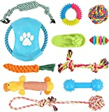 Dog Rope Toys for Aggressive Chewers, 11 Pack Dog Toys Puppy Teething Chew Toys, Indestructible Rope Toys, Interactive Dog Toys Prevents Boredom and Relieves Stress