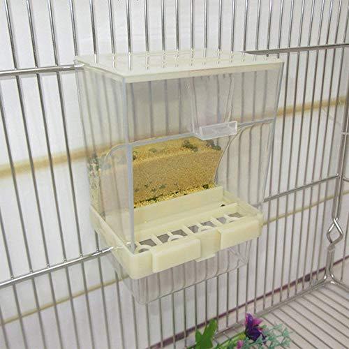 Zehui Alimentador de alimento de pájaro, Caja de Alimentos automática Parrot Manger, Suministros para Mascotas Cepillo de Masaje para Esquina de Gato con Juguete para Gatos
