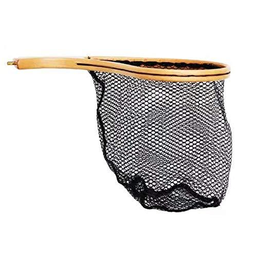Pesca a mosca la rete di atterraggio netto e rilascio rete della trota - cornice in legno con maglia in gomma morbida