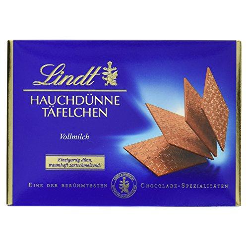 Lindt & Sprüngli Hauchdünne Täfelchen Vollmilch, 125 g