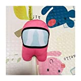 SMchwbc 18 cm de Espacio muñeca de la Felpa de la muñeca de Juguete de Felpa de Dibujos Animados periférica pequeña Pendiente Suave Muñecas + Llavero (Color : R)