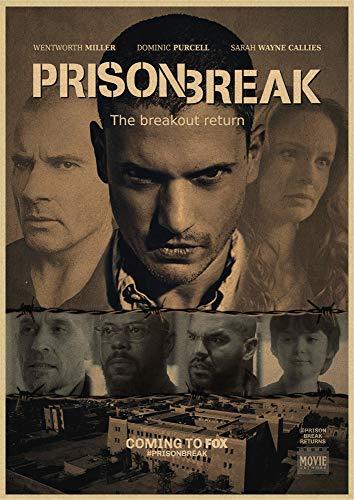h-p Prison Break Wentworth Miller American TV Series Retro Canvas Art Pintura Al Óleo Cartel Decoración para El Hogar Mural Frameless50X60Cm U10189